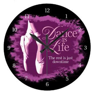 Dance Is Life Large Clock