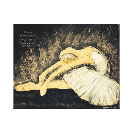 Dance is the hidden language canvas print