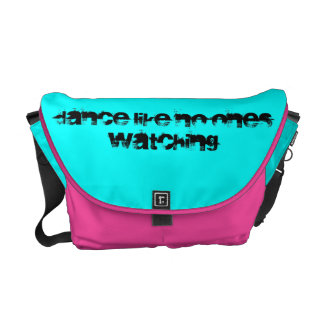 Dance Like No One s Watching Text-Lt Blue Pink Commuter Bag