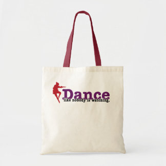 Dance like nobody is watching tote bag