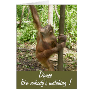 Dance Like Nobody's Watching Cute Birthday Greeting Card