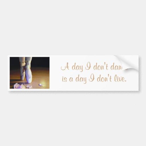 Dance/Live Bumper Sticker