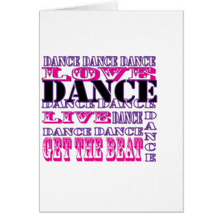 Dance Love Live Get The Beat Girls Apparel Greeting Card