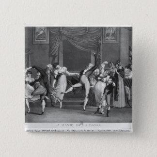 Dance mania, 1809 15 cm square badge