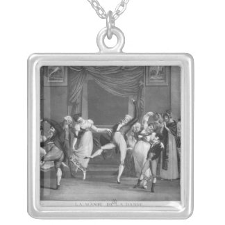 Dance mania, 1809 silver plated necklace