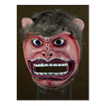 Dance mask in form of Monkey Post Card