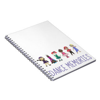 Dance Memories Ballet Tap Jazz Recital Gift Notebook