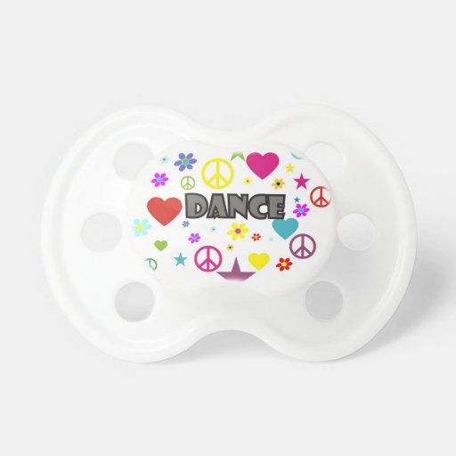 Dance Mixed Graphics Baby Pacifiers