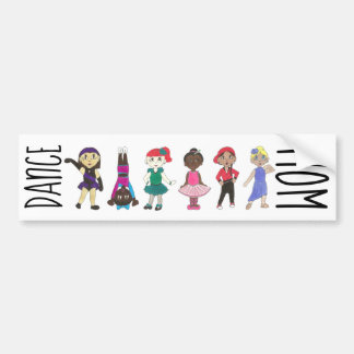 DANCE MOM Ballet Tap Jazz Lyrical Acro Girl Dancer Bumper Sticker