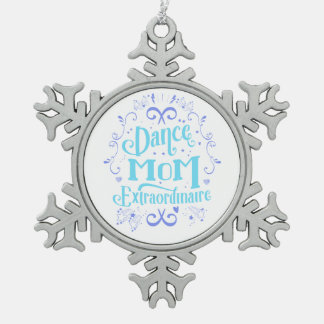 Dance Mom Extraordinaire - Purple and Blue Pewter Snowflake Decoration