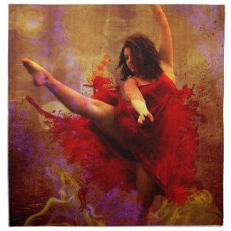 Dance More, Girl in Red dress custom napkins