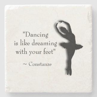 Dance Motivational Stone Beverage Coaster