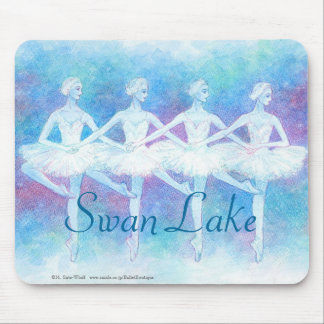 Dance mouse pad of swan of four feathers