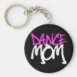 Dance Mum Basic Round Button Key Ring