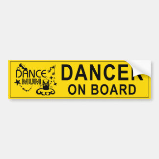 Dance Mum Bumper Sticker