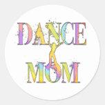 Dance Mum Round Stickers