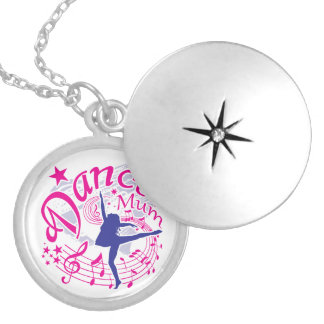 Dance Mum Silver Plated Necklace