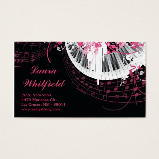 Dance Music Disco Ball Piano Music Business Card