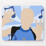 dance music mouse pad