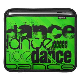 Dance; Neon Green Stripes iPad Sleeves