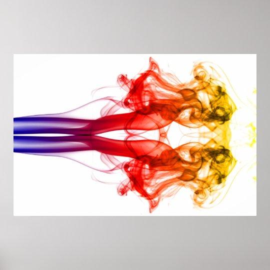 Dance of colour - Smoke Poster