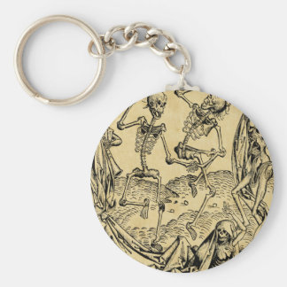 Dance Of Death By Michael Wolgemut 1493 Key Ring