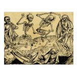 Dance Of Death By Michael Wolgemut 1493 Postcard