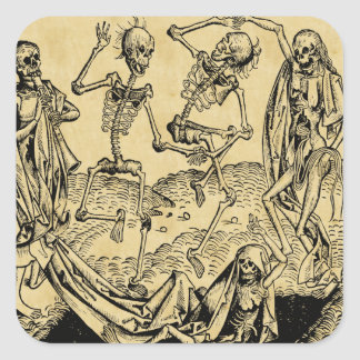 Dance Of Death By Michael Wolgemut 1493 Square Sticker