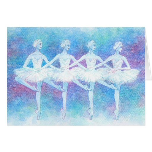 Dance of the Baby Swans Greeting Card