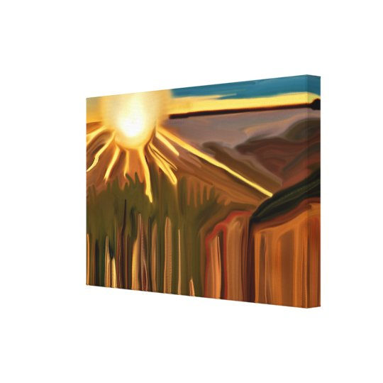 Dance of the Cacti Abstract Art Canvas Print