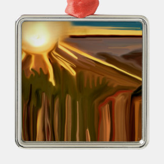 Dance Of the Cacti Abstract Art Christmas Ornament