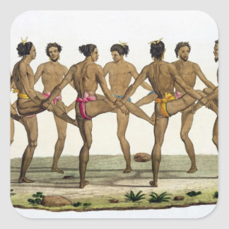 Dance of the Caroline Islanders, plate 22 from 'Le Square Sticker