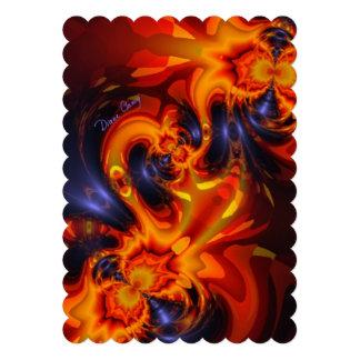 Dance of the Dragons, Abstract Indigo Amber Eyes Custom Invites
