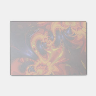 Dance of the Dragons, Abstract Indigo Amber Eyes Post-it® Notes