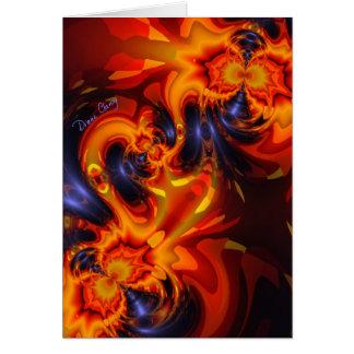 Dance of the Dragons - Indigo & Amber Eyes Greeting Card