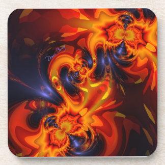 Dance of the Dragons - Indigo & Amber Eyes Coasters