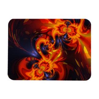 Dance of the Dragons - Indigo & Amber Eyes Rectangle Magnet