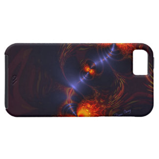 Dance of the Eyes – Indigo and Gold Sight iPhone 5 Cover