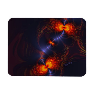 Dance of the Eyes – Indigo and Gold Sight Rectangle Magnet