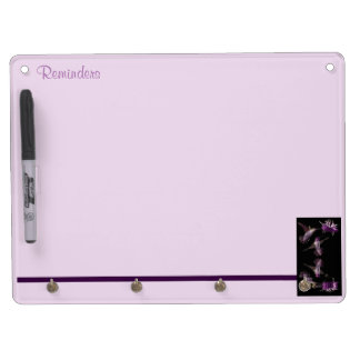 Dance of the Hummingbird Dry Erase Board With Key Ring Holder