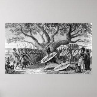 Dance of the Landeens, or Zulus Poster
