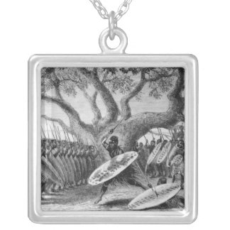 Dance of the Landeens, or Zulus Silver Plated Necklace