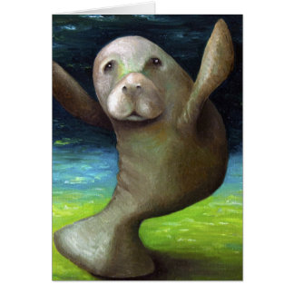Dance Of The Manatee Card