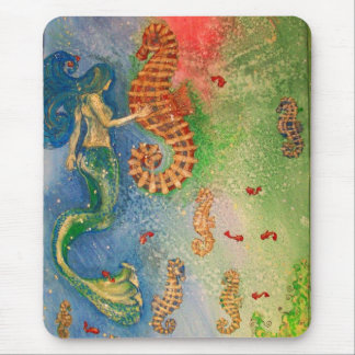 Dance of the Sea Horse Mouse Mat