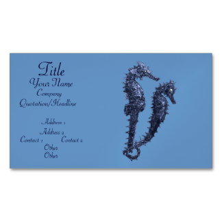 Dance Of The Seahorses (Blue) Magnetic Business Cards