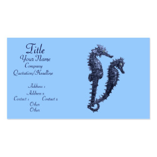 Dance Of The Seahorses (Blue) Pack Of Standard Business Cards