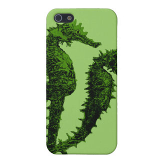 Dance Of The Seahorses (Green) iPhone 5 Case