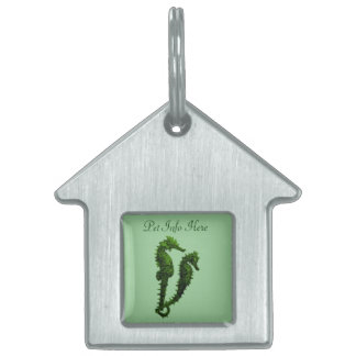 Dance Of The Seahorses (Green) Pet Name Tag