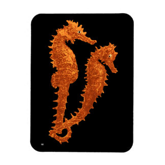 Dance Of The Seahorses (Orange) Flexible Magnet
