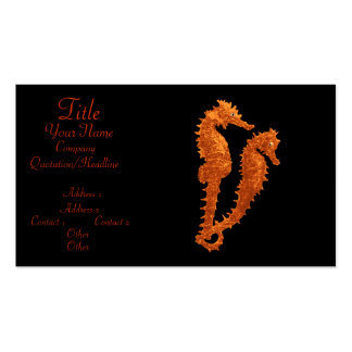 Dance Of The Seahorses (Orange) Pack Of Standard Business Cards